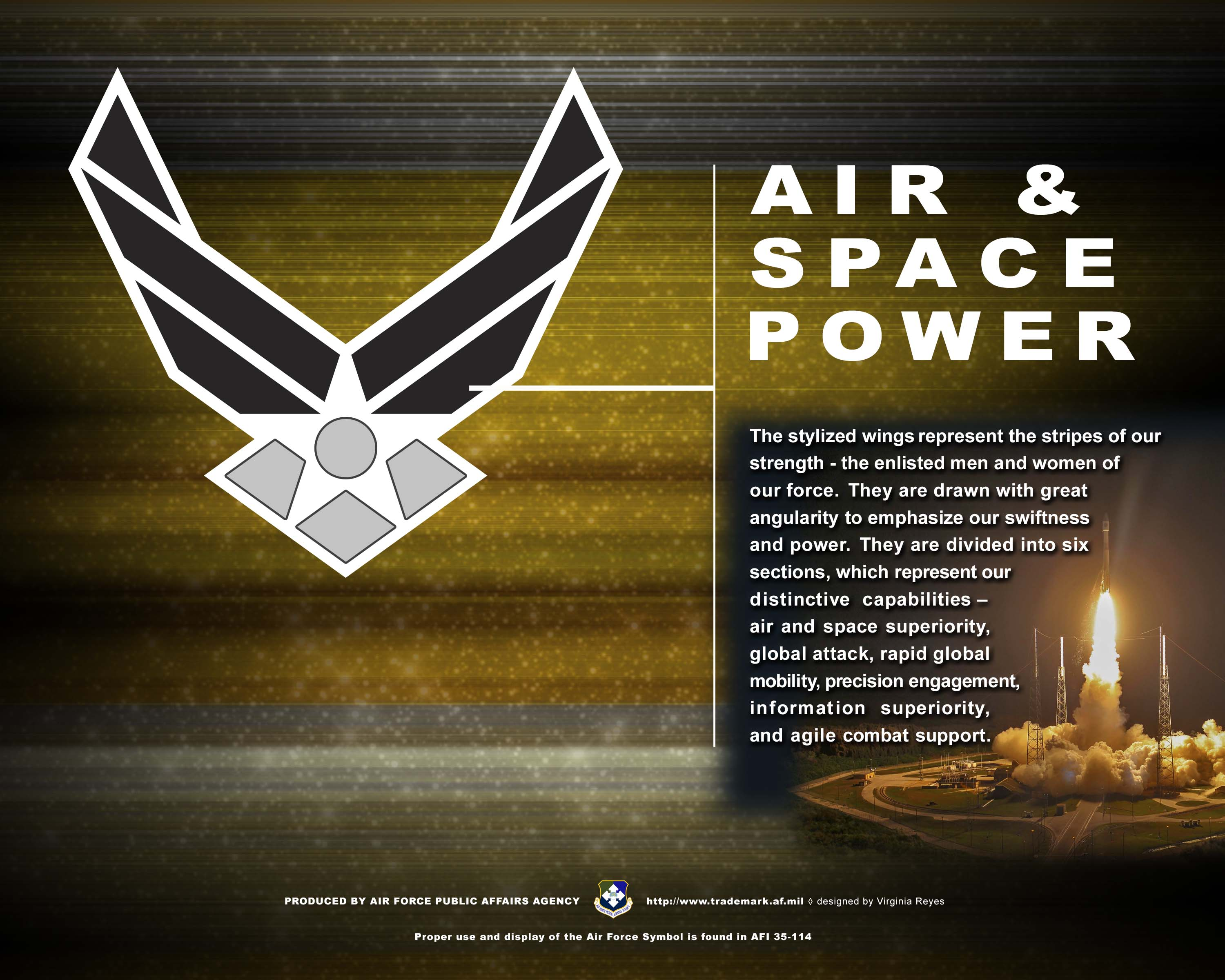 Af branding trademark licensing about us the air force symbol vertical buycottarizona Images