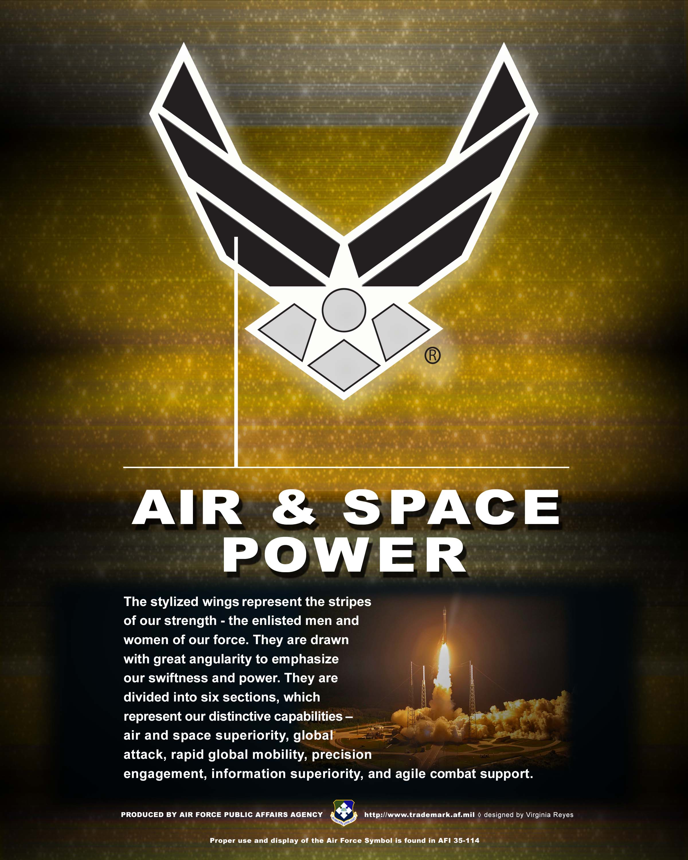 Af branding trademark licensing about us the air force symbol vertical buycottarizona Gallery