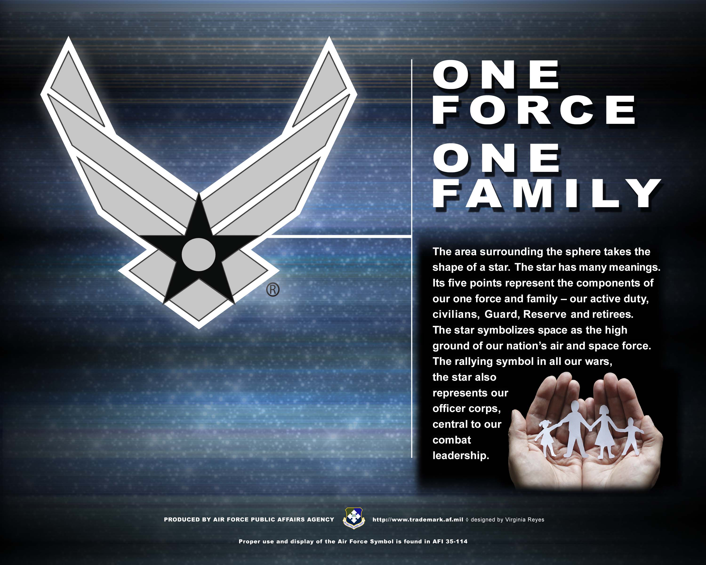 Af branding trademark licensing about us the air force symbol one force one family vertical horizontal biocorpaavc Choice Image