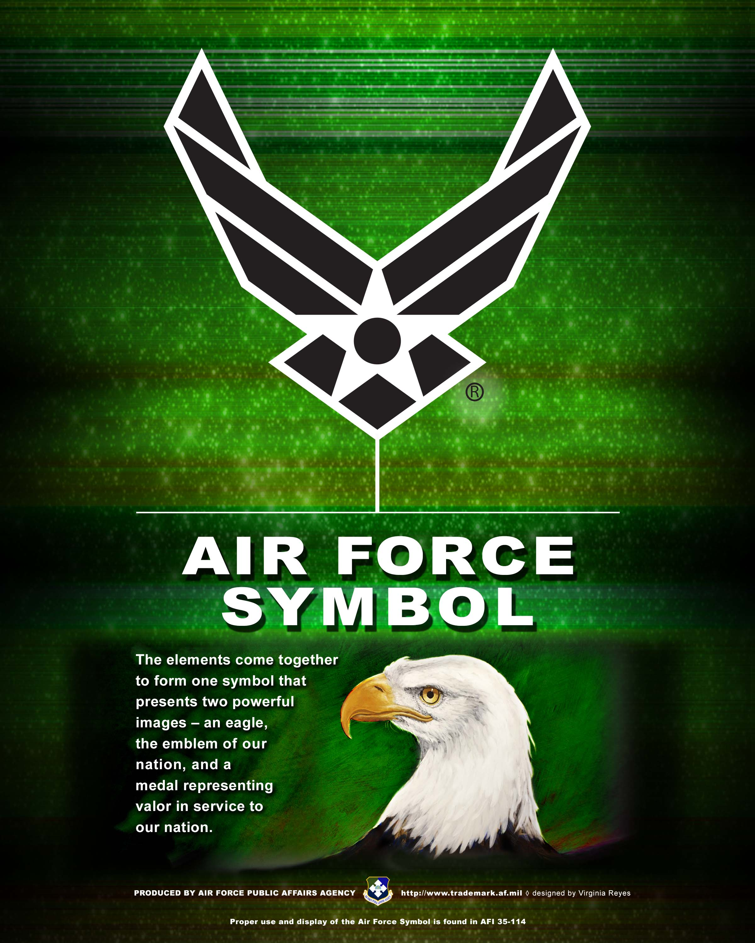 Af branding trademark licensing about us the air force symbol air force symbol vertical buycottarizona Images